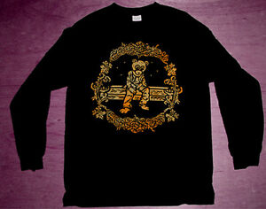7d5937fc1ae798 New Long Sleeve Kanye West Dropout Gold bear shirt foamposite ...