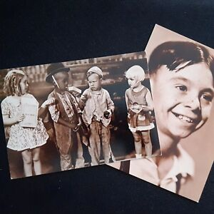 Details about OUR GANG & ALFALFA Child TV/MOVIE Stars Ludlow Sales FOTOCARD  Two Postcards VTG