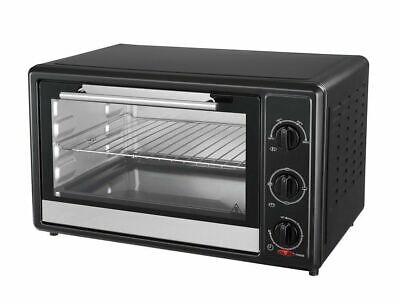 Backofen mit Drehspieß 28L Grill Minibackofen Ofen Pizzaofen Timer 1500 Watt Neu