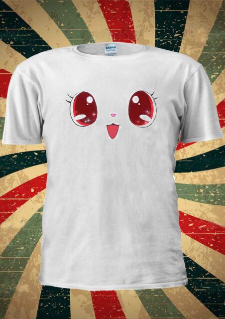 Cute Kawaii Eyes Funny Kitty Kitten T-shirt Vest Top Men Women Unisex 1911