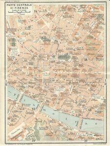 Cartina Stradale Di Firenze Centro.Firenze Centro Mappa Touring Club 1922 Carta Geografica Florence Ebay