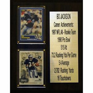 NFL-8-034-X10-034-Bo-Jackson-Oakland-Raiders-Career-Stat-Plaque