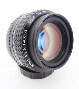 Fast-SMC-Pentax-A-50mm-f1-4-Manual-Standard-Lens-Pentax-PK-A-Mount-Free-UK-P-amp-P