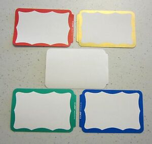 100 name tags labels border badges stickers peel stick adhesive id image is loading 100 name tags labels border badges stickers peel sciox Choice Image