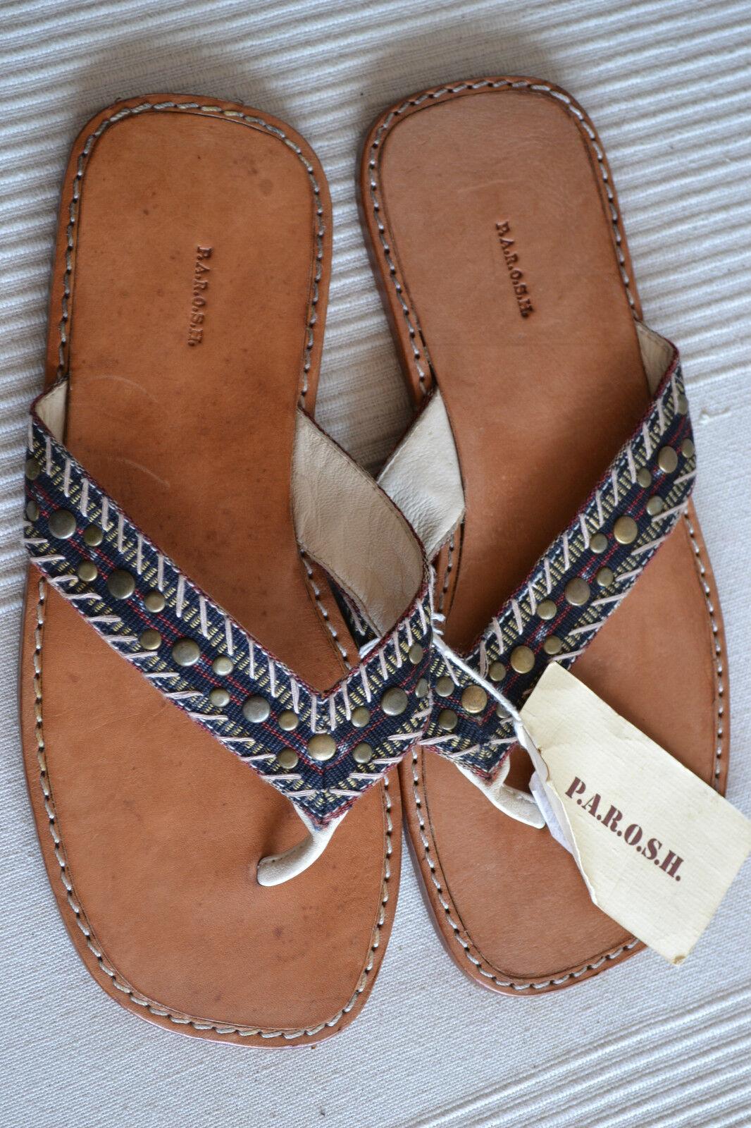PAROSH original IBIZA Schuhe Pantoletten Sandalette EU 40 UK 6 neu   NEW TOP