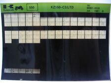 Kawasaki KZ550 LTD 1982 Part Microfiche NOS k335