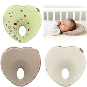 Baby-Kids-Soft-Pillow-Memory-Foam-Prevent-Flat-Head-Anti-Roll-support-Neck