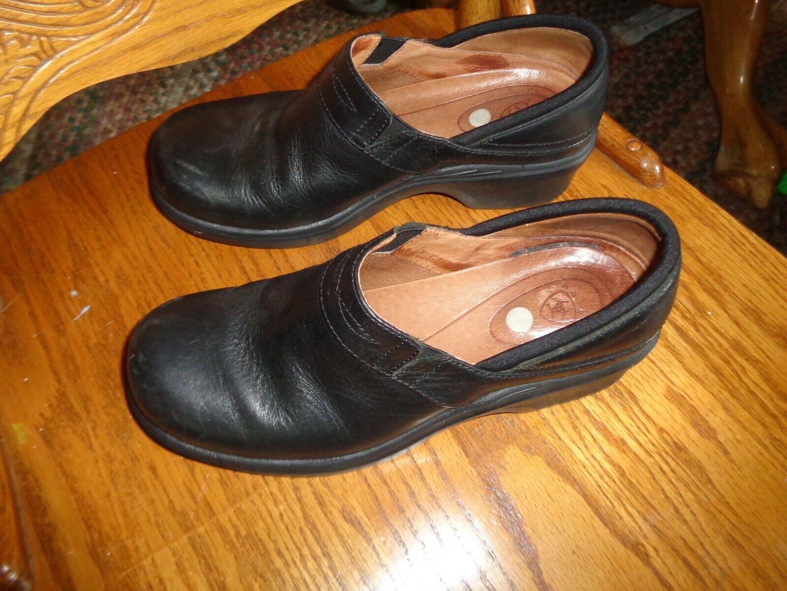 Ariat Women's Shoes Clogs Black Leather Size 7.5 B Medium