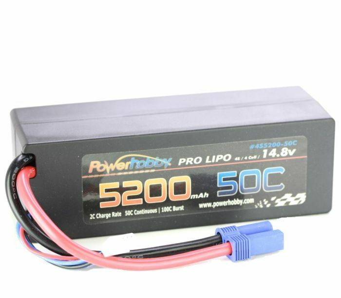energia Hobby - 5200mAh 14.8V 4S 50C LiPo Battery with  Hardwirosso EC5 Connector  colorways incredibili
