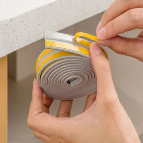 9*2mm Sealing Strip Rubber Window Door Seal Tape Weather Roll Draught Excluder