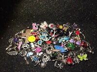 50 Pieces Mixed Theme Enamel Silver Gold Charms Pick Your Themes