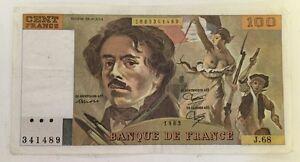 Billet-De-Banque-100-Francs-Delacroix-De-1983-J-68-Voir-Photos