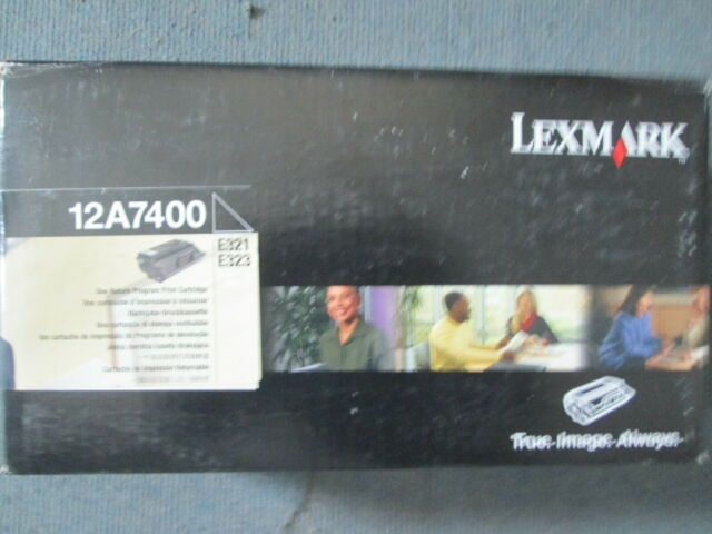 Genuine Lexmark 12A7400 BLACK Toner Cartridge E321 E323 SERIES.