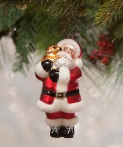 Bethany Lowe Christmas Ornaments.Details About Bethany Lowe Christmas Santa S Puppy Love Glass Ornament Lc7133
