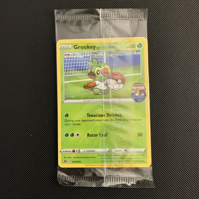 New Sealed Mint Grookey On The Ball Pokemon Card Futsal Promo 003/005