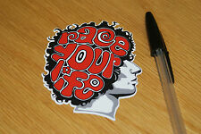 Marco Simoncelli Face Sticker - Red/Black