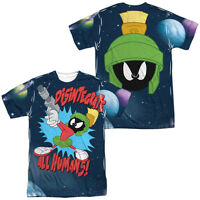 Looney Tunes Marvin Martian Disintergrate 2-sided All Over Print Poly T-shirt
