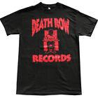 DEATH ROW RECORDS Red Logo Men's T-Shirt Black