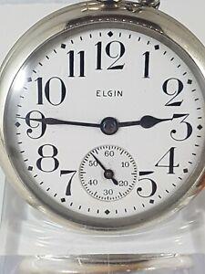 Elgin  Nathal vintage  pocket watch, works, Nice  collector watch.