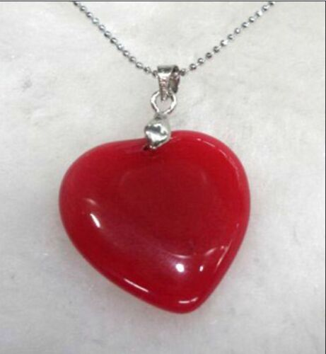 Charm lovely Vert//Rose//Violet//Coeur Rouge Love jade Pendentif Gratuit Chaîne