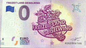 BILLET-0-EURO-FREIZEIT-LAND-GEISEWIND-ALLEMAGNE-NUMERO-DIVERS