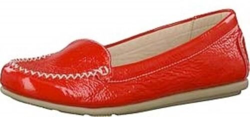 Caprice Red Patent Leather 24602 Moccasin comfort leather walking onair insole