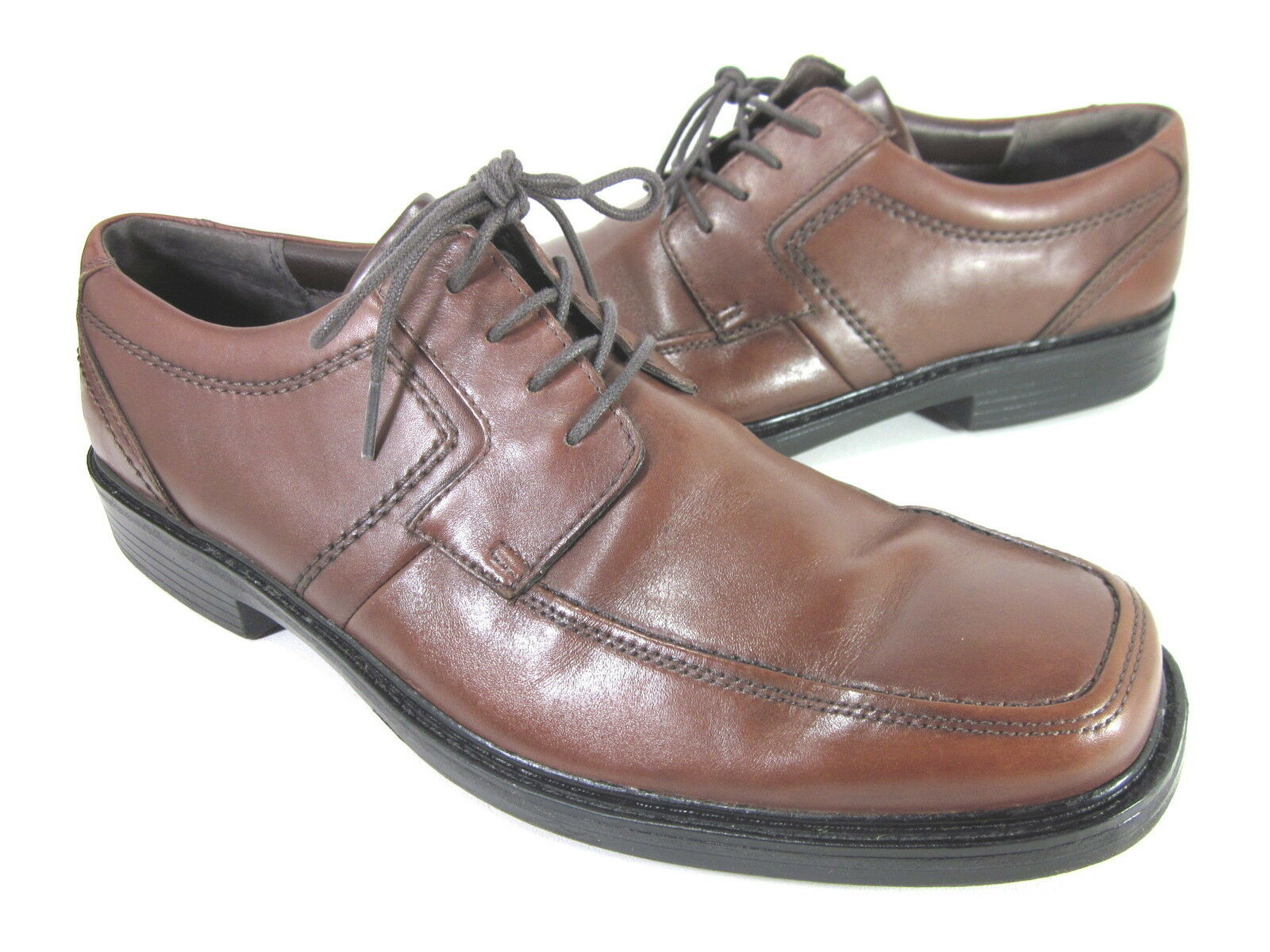 BOSTONIAN MEN'S MALTHUS COMFORT OXFORD BROWN LEATHER IMPORTED US SIZE 13 MEDIUM