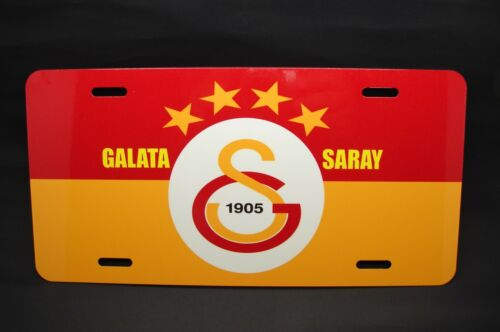 GALATASARAY FC METAL CAR LICENSE PLATE FOR CARS... TURKISH SOCCER CIM BOM BOM
