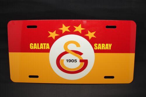 GALATASARAY FC METAL CAR LICENSE PLATE FOR CARS... TURKISH SOCCER CIM BOM BOM
