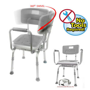 New Mobb Swivel Shower Chair W Padded Seat Adjustable