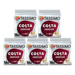 Tassimo T Discs Costa Americano 5 x 16 Coffee Pods 80 Drinks