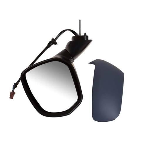 NS Passenger Side Left Door Wing Mirror Power Fold Kerb Lamp Glass Primed Cover