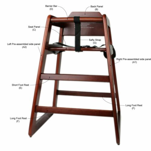 Free shipping Wooden High Chair