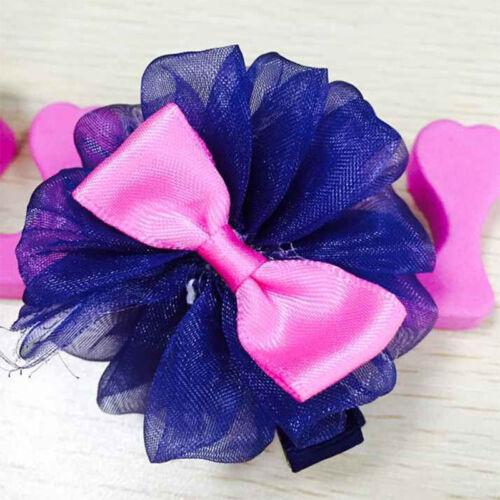 2Pcs Toddler cute Girl Hair Clip Ribbon Bow Baby Kids Nices Bowknot Headband