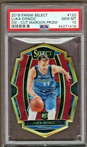 Luka-Doncic-2018-Panini-Select-Maroon-Prizm-175-RC-Rookie-122-PSA-10-GEM-MINT