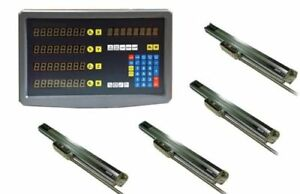 BRIDGEPORT-4-AXIS-DRO-MILL-PACKAGE-ALL-4-LINEAR-GLASS-SCALES-DIGITAL-READOUT-NEW