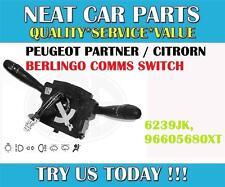 Peugeot 206 Light Wiper Switch Comm 2000 NEW 624233 96787365XT