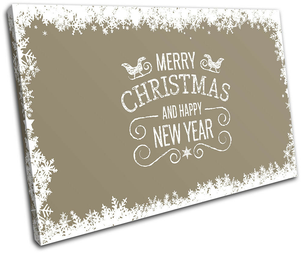 Christmas Decoration Wall Canvas ART Print XMAS Picture Gift  06 Cream Christmas