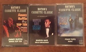 Lot-Of-3-Motown-Cassette-Classic-Marvin-Gaye-Four-Tops-Jimmy-Ruffin