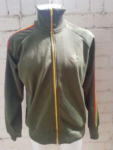 Adidas-Originales-Track-Top-Talla-L-Reggae-Rasta-Jamaica-Corto-para-Hombre-Chaqueta-Verde