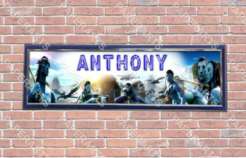 Personalized Customized Avatar Movie Name Banner Wall Decor Poster with Frame