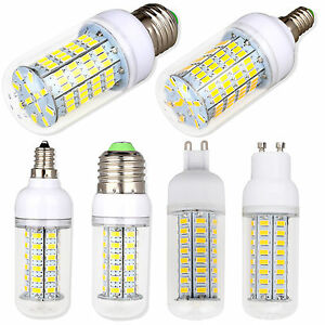 Dimmable-E26-E12-E27-E14-G9-GU10-LED-Corn-Bulb-5730-SMD-Light-White-Lamp-Bright