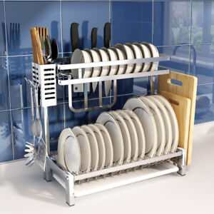 2-Tier-Dish-Drying-Rack-Dish-Rack-Drainer-Holder-Kitchen-Storage-Space-Saver