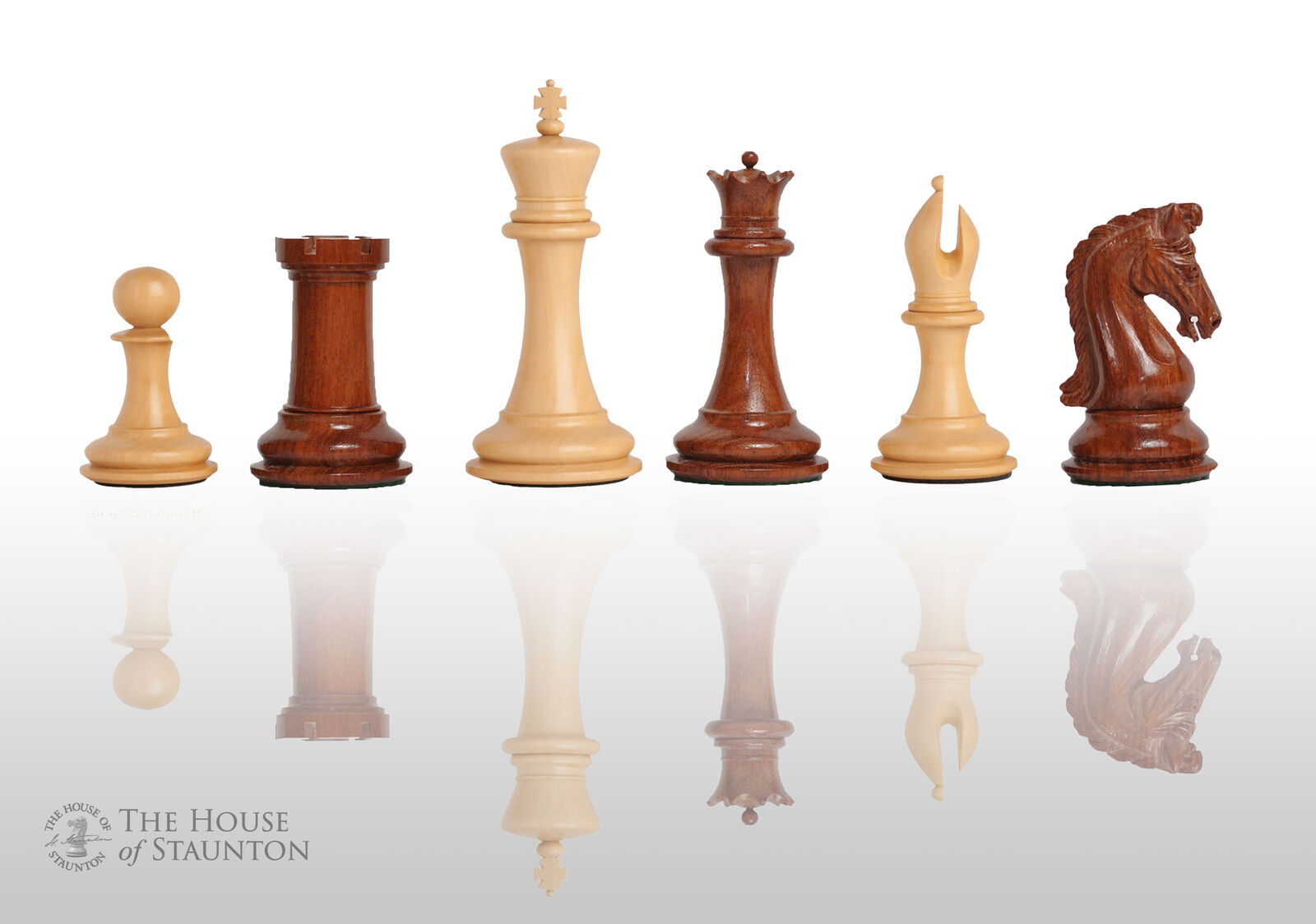 The Imperial Collector Luxury Chess Set - Pieces Only - 4.4  King - Mopane and N