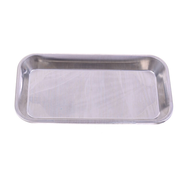 Stainless steel medical surgical tray denta dish lab instrument tool 22X12X2cm X