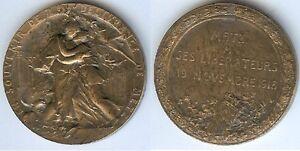Medaille-de-table-METZ-1918-19-novembre-a-ses-liberateurs-par-E-HANNAUX