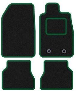 SKODA-Fabia-2007-2014-a-medida-Alfombrillas-de-coche-negro-con-ribete-verde