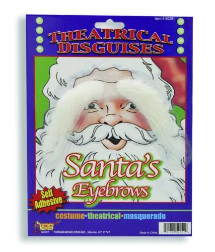 SANTA EYEBROWS WHITE ECONO Self Adhere Biblical Neptune characters Free Shipping