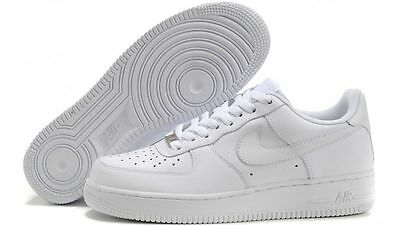 separation shoes a0f49 482bb NIKE AIR FORCE 1 GS scarpe donna sneakers basse running sportive pelle  bianche