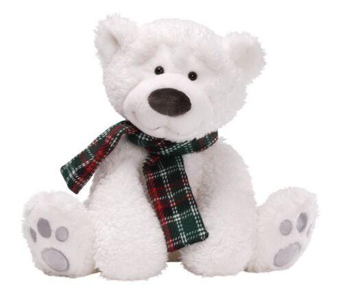 GUND Christmas Snowsly Polar Bear Soft Toy Height 33cm  NEW  17506
